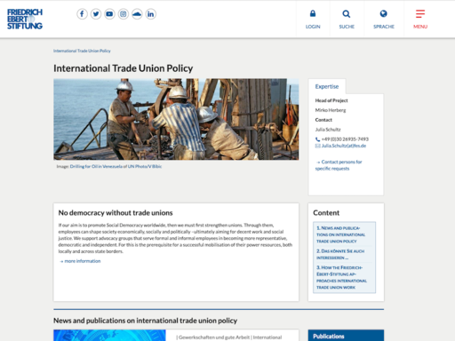 International Trade Union Policy