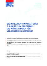 Die Parlamentswahlen vom 7. Juni 2015 in der Türkei