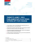 Turkey's June 7, 2015 parliamentary elections